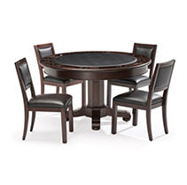 Brunswick Heritage Set Game Table & Chairs - Espresso