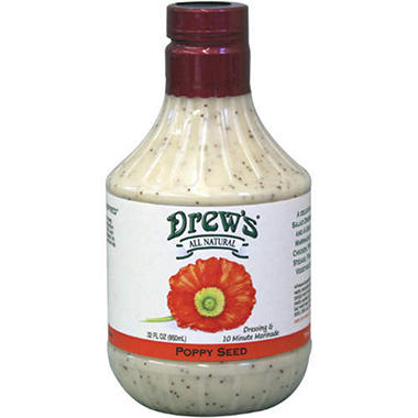Drew's® All Natural Poppy Seed Dressing - 32oz