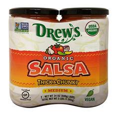 Drew's Organic Salsa, Medium, Thick & Chunky (24 oz. jar, 2 pk.)