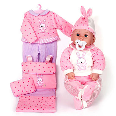 Baby Allie Deluxe Dress & Playset with Diaper Bag