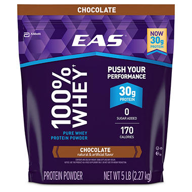 EAS� 100% Whey Protein Chocolate - 5 lbs.