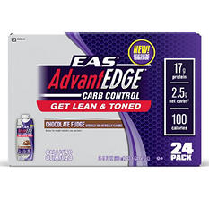 EAS AdvantEDGE Carb Control Ready-to-Drink Shake, Chocolate - 24 pk.