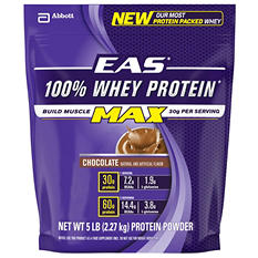 EAS 100% Whey Max Protein Powder, Chocolate (5 lbs.)
