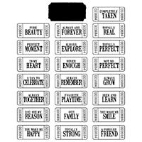 Stampology Clear Stamps Katie Pertiet - Ticketed