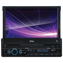 "Boss Audio Single Din 7"" Motorized Touchscreen Monitor Receiver"