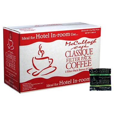 McCullagh Cafe Classique Filtered Coffee - 200 pk.