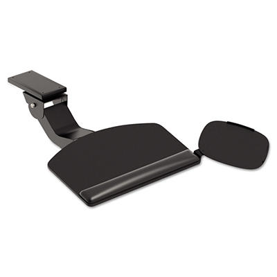 HON - Articulating Arm With Convertible Keyboard, Tray: 18-3/4w x 11-1/2d -  Black