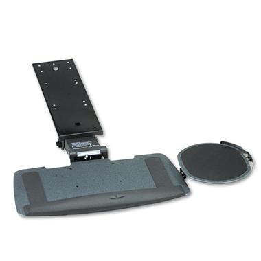 HON - Bravo Articulating Keyboard/Mouse Platform, Glide Track, 20-3/4w x 11d, Black
