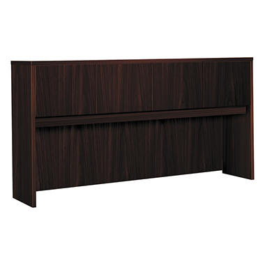basyx by HON - Laminate Hutch With Four Doors - Mahogany