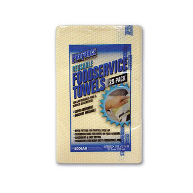 ProForce Reusable Foodservice Towels - 25 ct.