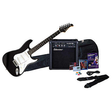 Silvertone Electric Guitar Package - Black
