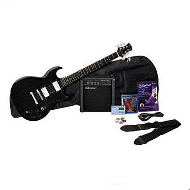 Silvertone Rockit 21 Guitar Package, Liquid Black