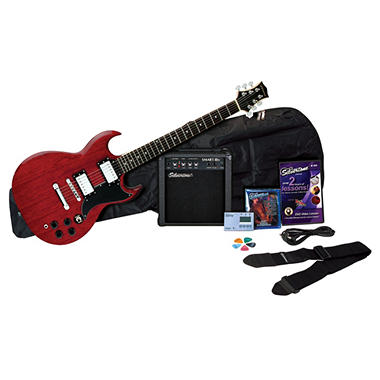 Silvertone Rockit 21 Guitar Package - Wine Red