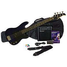 Silvertone SSLB11 Bass Guitar & Amp Package
