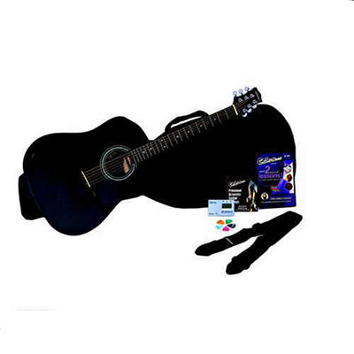 Silvertone SD10 Acoustic Guitar Package - Black