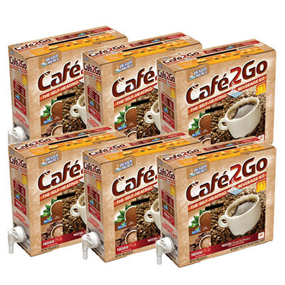 Cafe2Go Self-Heating Beverage Kit - Variety - 6 pk.