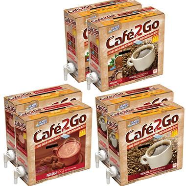 Cafe2Go Self-Heating Beverage Kit - Mixed Case - 6 pk.