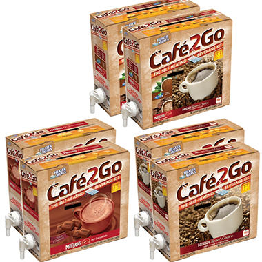 Cafe2Go Self-Heating Beverage Kit - Mixed Case - 6 pk.