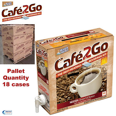 Cafe2Go Self-Heating Beverage Kit - 18 case pallet