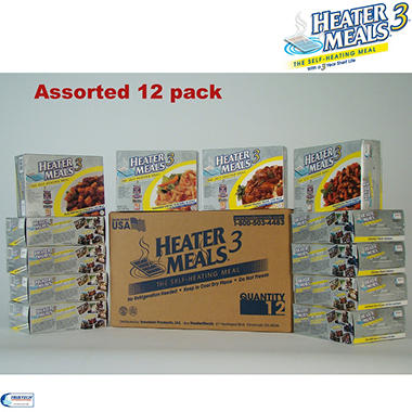 HeaterMeals 3 Assorted 12 Meal Pack