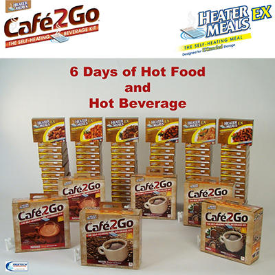 HeaterMeals  6-Day Survival Kit for 4 People