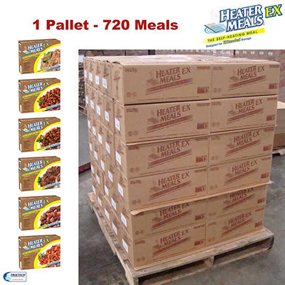 HeaterMeals EX Self-Heating Entrée Pallet - 720 pk.
