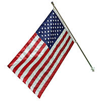 Liberty Flag American Flag Kit 3' X 5' Flag  with 6 'Aluminum Pole