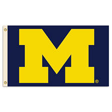 NCAA Michigan Wolverines 3' x 5' Flag with Pole Mount Kit
