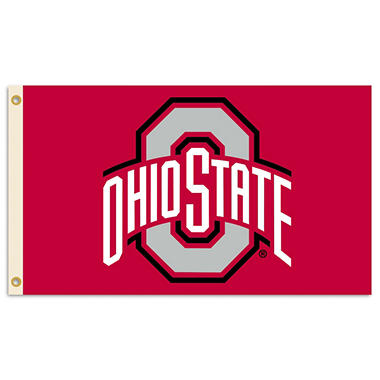 NCAA Ohio State Buckeyes 3' x 5' Flag with Pole Mount Kit