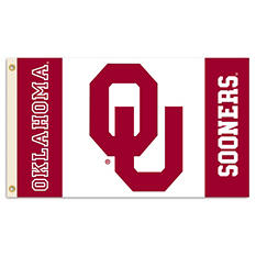 NCAA Oklahoma Sooners 3' x 5'; Flag with Pole Mount Kit