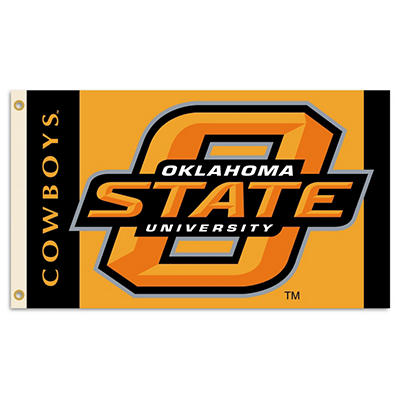 NCAA Oklahoma State Cowboys 3' x 5' Flag with Pole Mount Kit