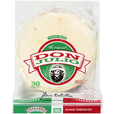 "Don Julio 10"" Flour Tortilla - 75 oz. - 30 pk."