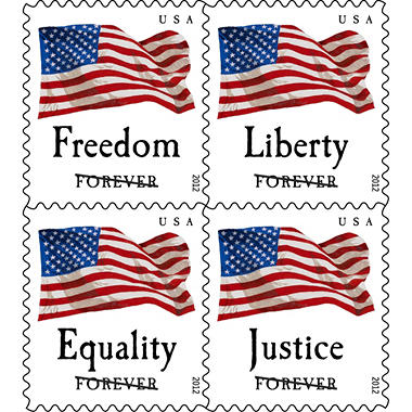 Four Flags Forever Postage Stamps - 60 Stamps