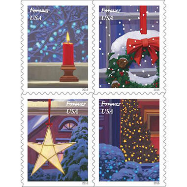 USPS - FOREVER® STAMPS - Holiday - 40 stamps