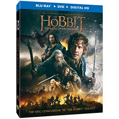 Hobbit: The Battle of the Five Armies [Blu-ray + DVD + Digital HD]