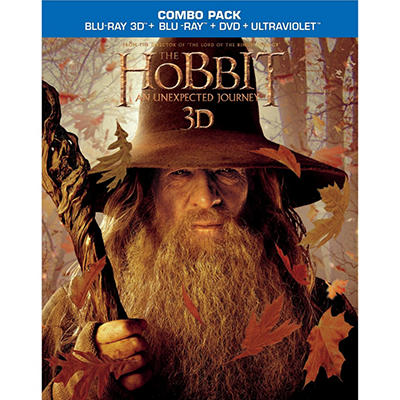 The Hobbit: An Unexpected Journey (3D Blu-ray + Blu-ray + DVD + UltraViolet) (Widescreen)