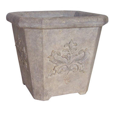 PEBA Medallion Planter - Aged Granite