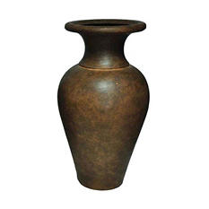 "29"" H Large Saltillo Vase in Old Terracotta Finish"