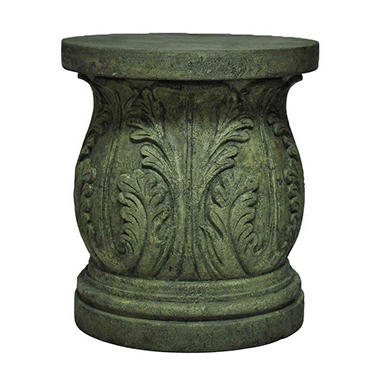 Acanthus Garden Stool / Table in Aged Granite Finish