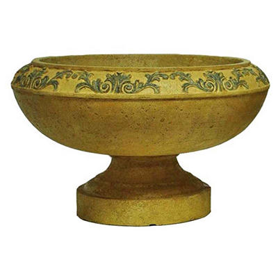 Tuscany Low Urn in Sandstone / Granite Finish