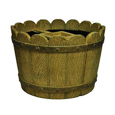Round Tapered Mailbox Planter in Sandstone / Granite Finish