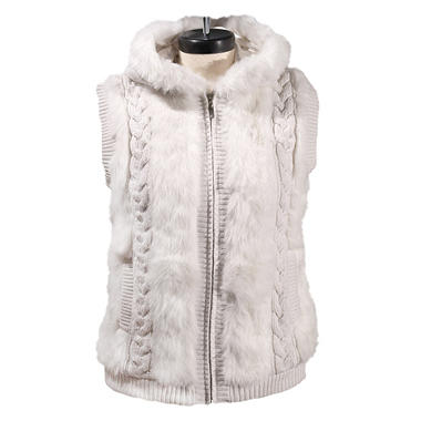 Green Tea Ladies Faux Fur Vest