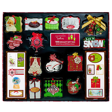 Holiday Specialty Gift Tag Assortment - 100 piece assortment