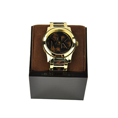 Ladies Runway Watch in Tortoise Acetate and Gold-Tone Stainless Steel by Michael Kors