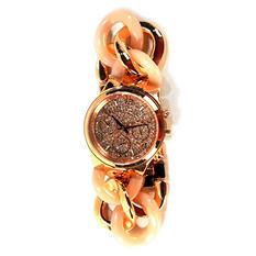 Michael Kors Women's Runway Twist Rose Gold-Tone Chronograph Watch