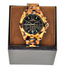 Ladies Bradshaw Watch in Cheetah Acrylic by Michael Kors