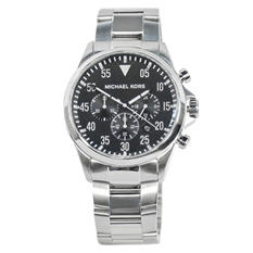 Men's Gage Silver Tone Stainless Steel Watch by Michael Kors