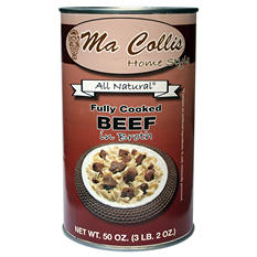 Ma Collis Fully Cooked Beef in Broth - 50 oz. can