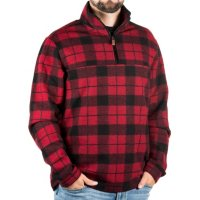 John Wayne Mens Wooly Fleece Plaid Pullover Deals
