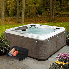 Everlast Spas™ Premiere 80-Jet Spa (Rock Millstone/Sterling Silver)